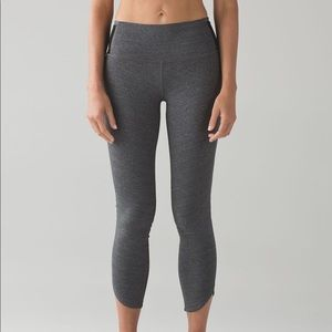 Lululemon Run Around Tight in Heathered Black